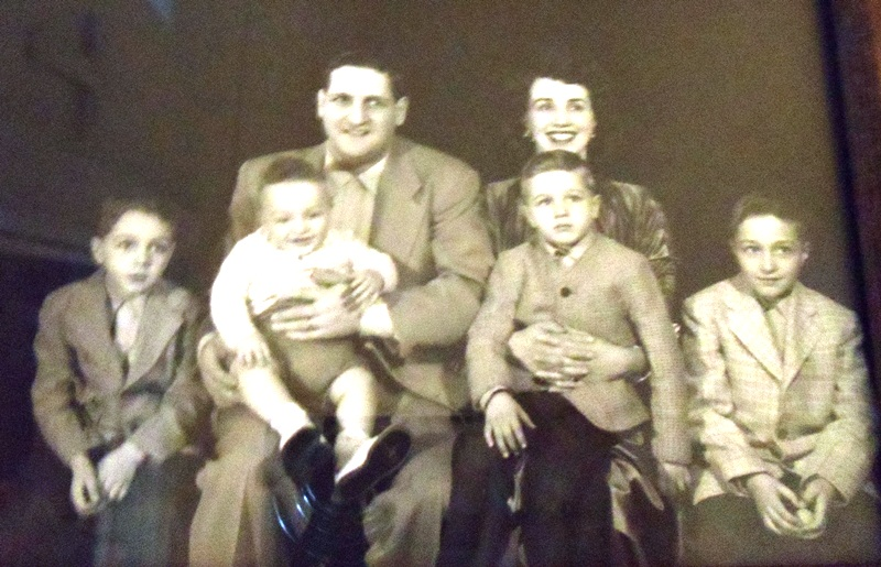 10 Gene Arger family (l-r) Gregory, Prokey, Gene, Vivian, Anthony, George, 1955