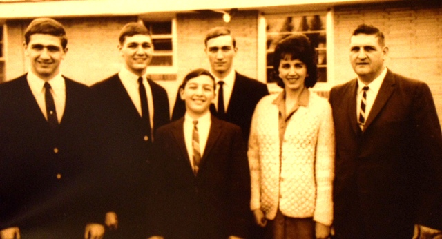 11 Gene Arger family (l-r) Anthony, Gregory, Prokey, George, Viv and Gene, circa 1964