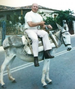 12 Tom on a donkey, Brallos, Greece, 1974