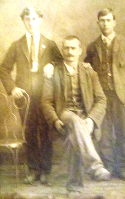 2 Chris, Gus and their father Angelo (seated) 1905
