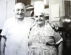4 Gust and Calliope in the kitchen,circa 1960