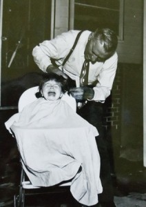 10 Chris'  first haircut, circa 19