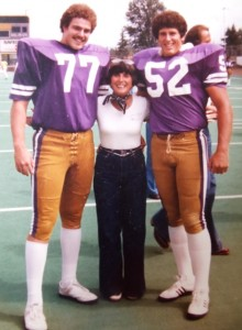 11 Cleo with Huskies Don Dow and Sscott Fausett, circa 1980