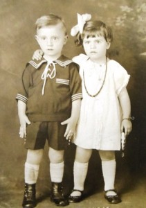 11 Elia and Stella Pangis, first Greek twins in Tacoma, circa 1926