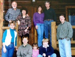 14 Pappas Family (l-r) Back  Ted, Sandy, Wendy, Mark, Front    who, who, who, who, Nathan  circa date