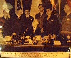 2 Tom Lentgis with FDR, March 1, 1936