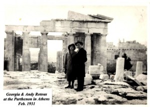 3 Andy,Georgia,honeymoon in Athens, 1931