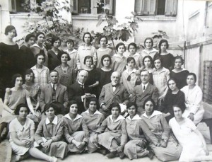 3 Arsakeio Teacher Preparatory School, Athens (Irene Cokinakis fourth from left, back row) circa 1920s