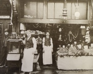 3 John Manousos (with mustache) at his fruit stand, circa 1910