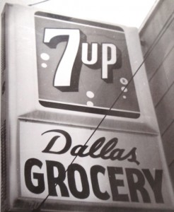 6 DALLAS GROCERY STORE SIGN
