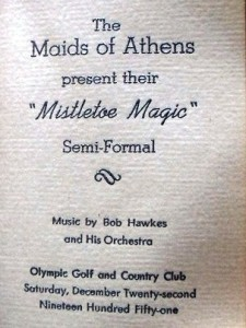 18 Maids souvenir program, 1951