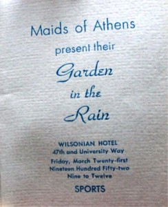 20 Maids souvenir program, 1952