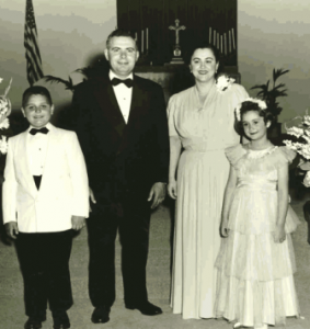 17 Rouvelas family (l-r) Manny, Larrym, Mary, Pauline, circa 1950