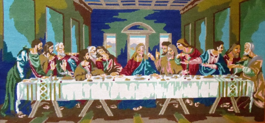 18 Last Supper needlepoint by Eleni, 2014