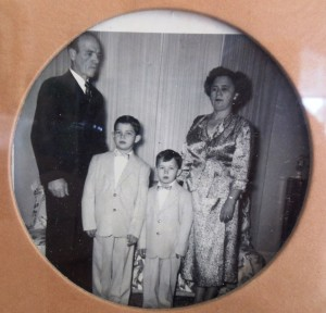 9 Malevitsis family, (l-r) George, Jim, Perry, Eleni, 1950s