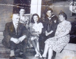 4 Nick Cooper, Athena Phillips, Tasia, Navy visitor, Alexandra, early 1940s