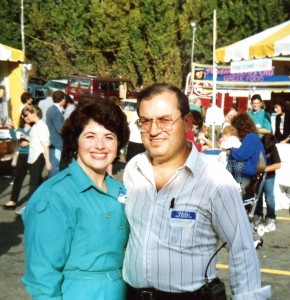 23  Peggy and Manuel at St. Demetrios festival, 1980s