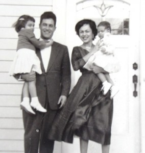 13 Sylvia, Nick, Greta and Nota Lucas, 1954
