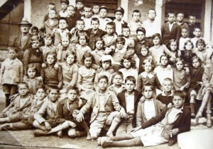 4 In School, Greta (5th from left, second row, circa 1937