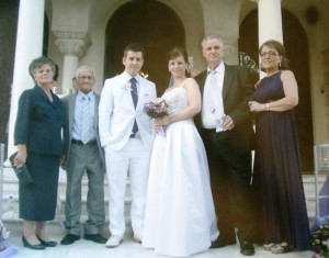 11 Wedding, (l-r) Vasiliki, Constantinos, Ilias, Bojaha, Cedo and Rada Marusic, 2011
