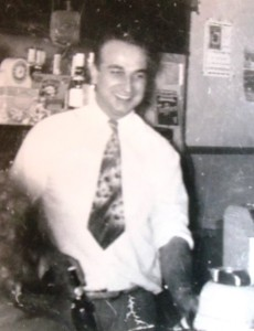 4 Paul Dudunakis at the bar, early 1950s