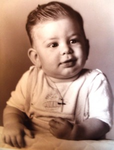 9 Kenny's baptismal photo, 1957