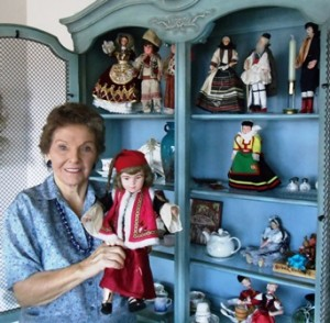 1 Pauli and her doll collection, 2013