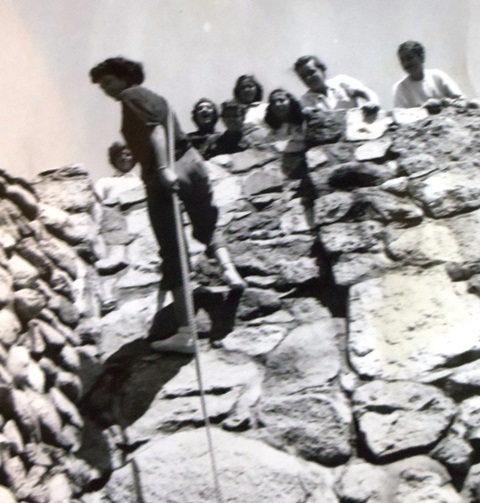 10 Katina and freinds at Camp Long, late 1940s