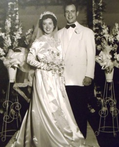10 Tom and Jacqueline wedding, April 6, 1952