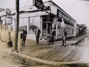 11 Store outside Jack Retzloff on left, Mike on rignt, circa 1920