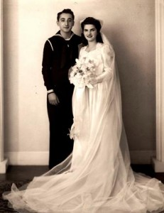 12 Milton and Pauli wedding, 1943