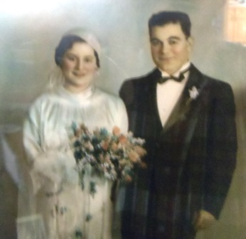 2 Colleen parents wedding, 1935
