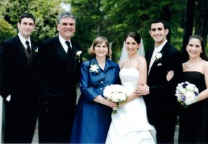 27 KATHERINE AND VASILI DIKEAKOS wedding, 2008 (L-R) George, Paul, Pam, Katherine, Vasili, Kristina