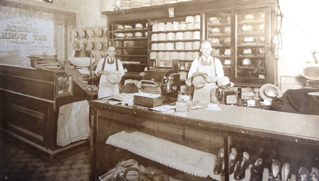 3 Dakota Hat Works (John at right), circa 1923