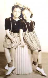 3 Fran and Elaine Demson, circa 1947