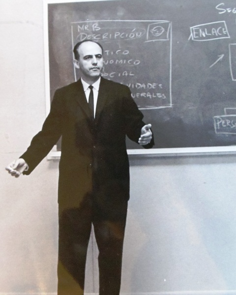 5 Peter teaching at the International Police Academy, 1960