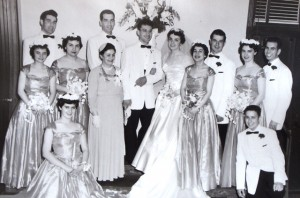 6 Peter and Anna Evans wedding, 1954