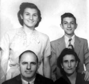 7 Athanasatos family, Rose, George, Gerasimos and Des;pina, circa 1950s
