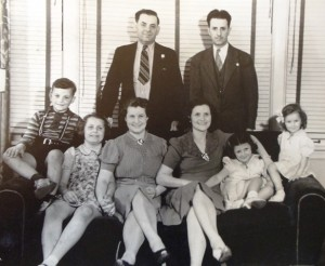 7 Sisters and families, circa 1940