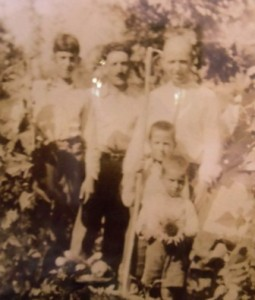 7 l-r Vasili, father, uncle Nick, Kosta, Petro, circa 1938