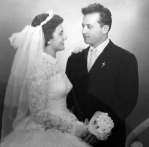 8 Rose and Steve wedding, October 12, 1958