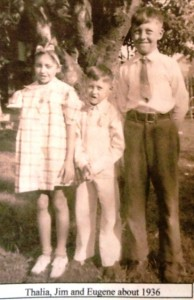 8 Thalia, Jim and Eugene about 1936