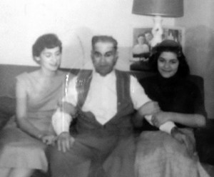 Colleen, father and Betty, 1956