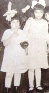 Mary with childhood friend, Clara Chakos - circa 1920