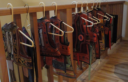 aprons on hangers