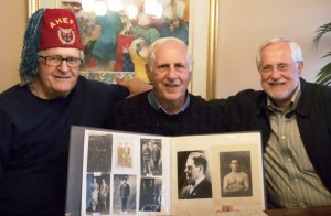 1 Andrew, George and Angelo Ballasiotes, with scrapbook  2012