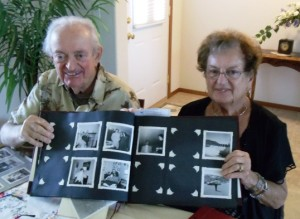 1 Pete and Dina with family scrapbook, 2012