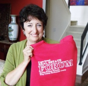 1 Sandra with Real Estate Forum shirt, 2012