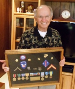 1 Steve with his milatry medals, 2013