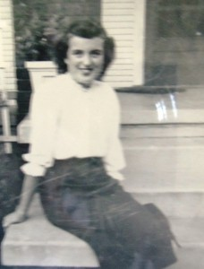 10 Dina on her porch, late 1950s